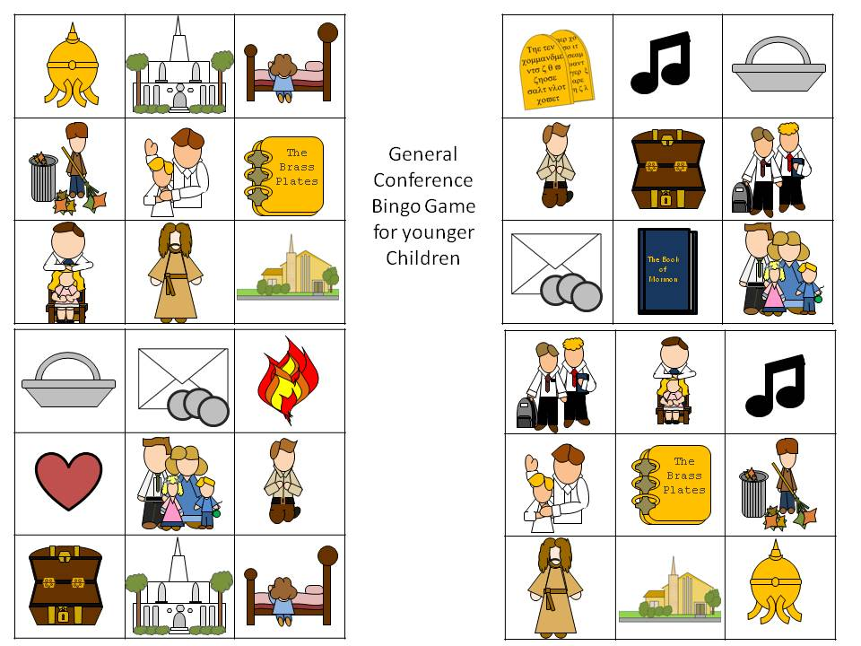 General Conference Bingo Game download PDF file