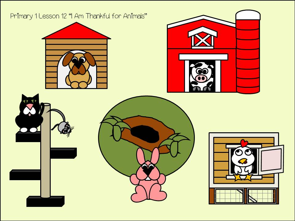 """Primary 1 Lesson 12 """"I Am Thankful for Animals"""" 