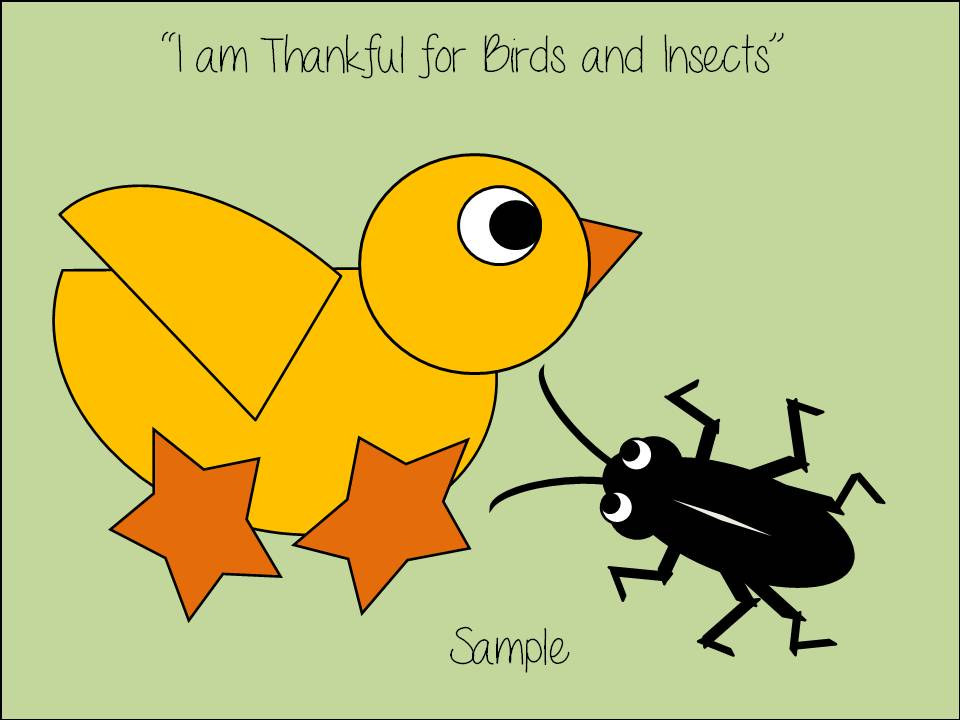 """Primary 1 Lesson 13 """"I Am Thankful for Birds and Insects"""" 