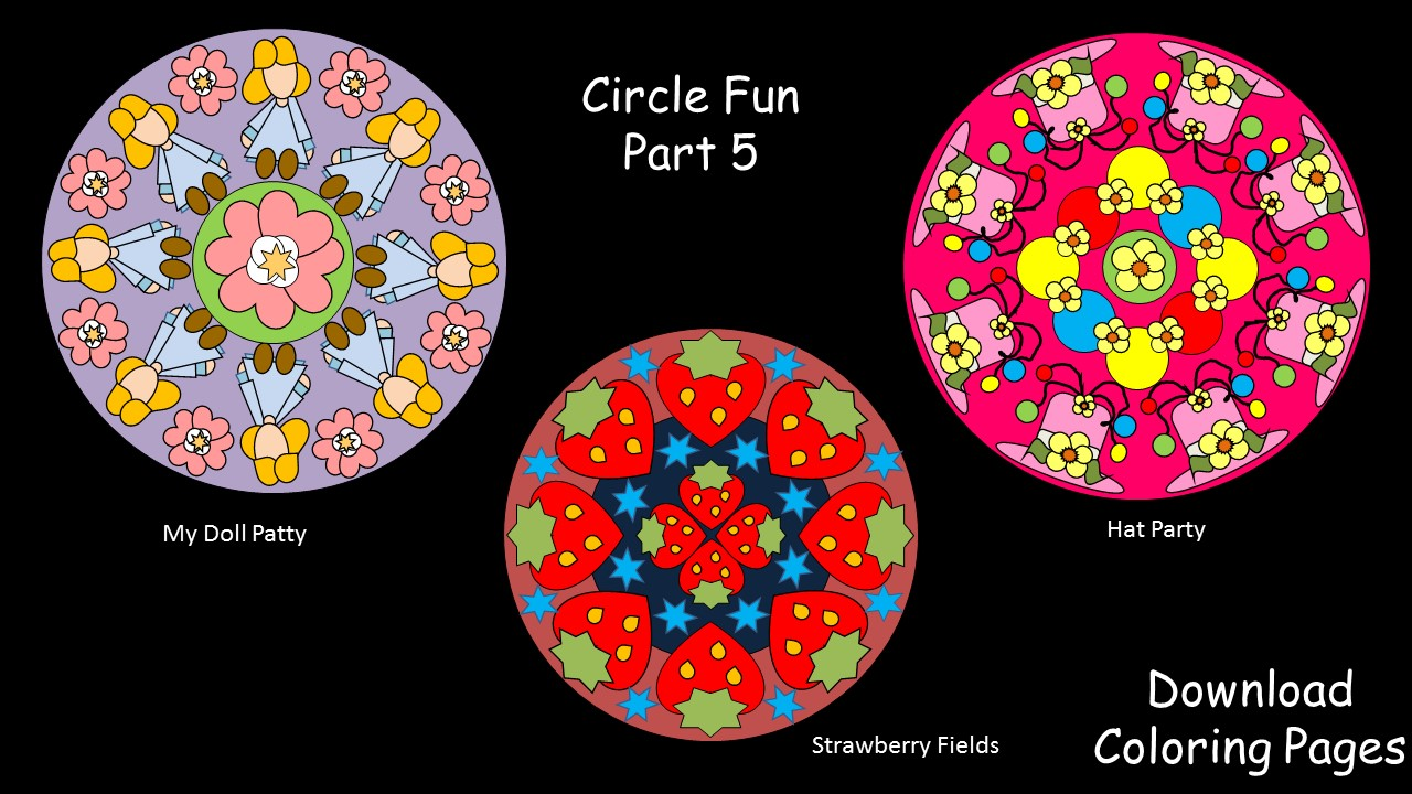 Circle Fun Part 5–Printable Coloring Pages | Games & Activities for ...